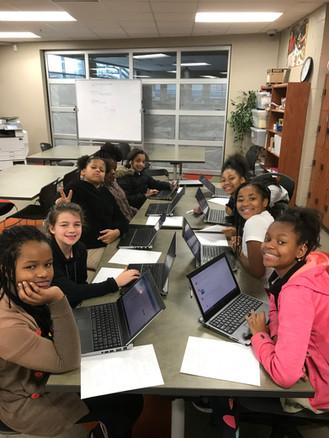 GirlsWhoCode at lunch