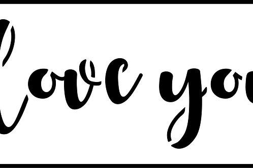 """I Love You JRV 7"""" x 17.5"""""""