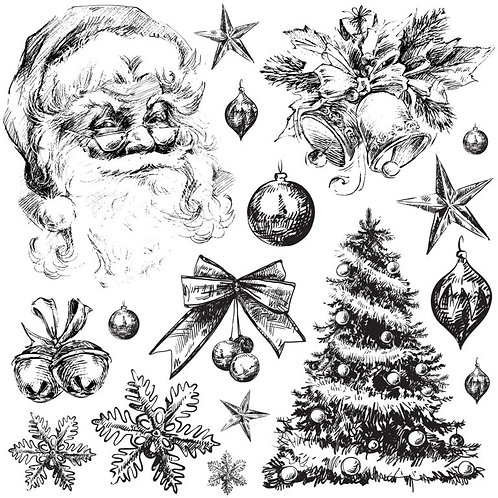 Holly Jolly IOD Decor Stamps, Christmas 2020