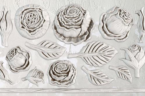 "Heirloom Roses, IOD Decor Mould, 6""x10"""