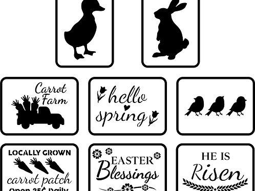 """Easter Minis JRV (8) 4"""" x 5.5"""""""