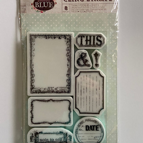 Something Blue Cling Stamps 8 Pieces