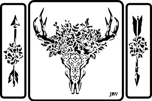 Skull and Arrows, JRV Stencil Set