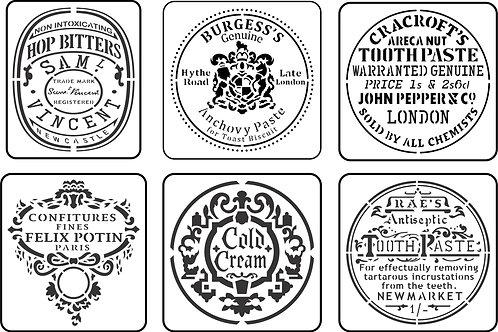 Mini Jar Label Pack, JRV Stencil Set