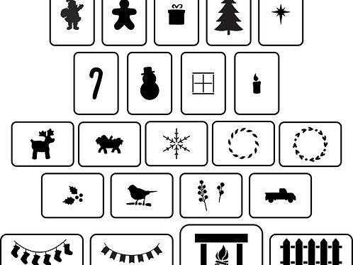 Christmas House Accessories, JRV Stencil Set