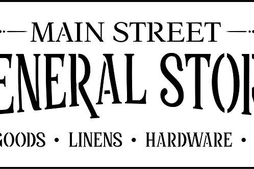 Main Street General Store, JRV Stencil