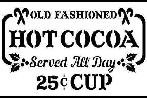 Hot Cocoa, JRV Stencil