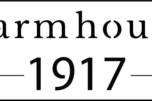 Farmhouse 1917, JRV Stencil
