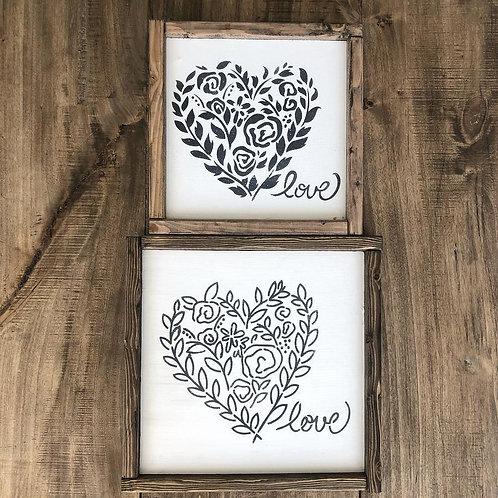 """Two Hearts JRV Set approx. 9"""" x 7"""""""