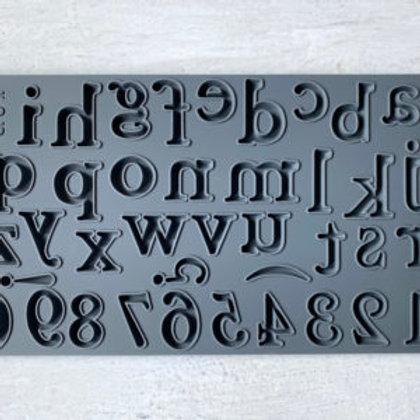 Harper, IOD Decor Mould, Lower Case Text