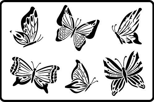 "Butterflies, JRV Stencil, 11.5"" x 17.5"""