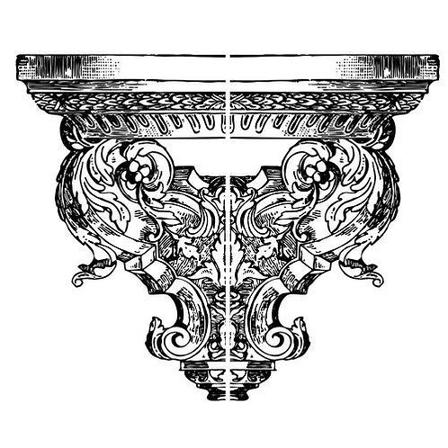 Persephone End, IOD 1st Gen Decor Stamp