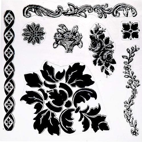 Fleur Decor Stamp, IOD 1st GEN
