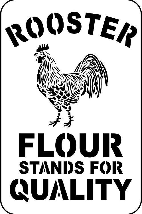 Rooster Flour, JRV Stencil
