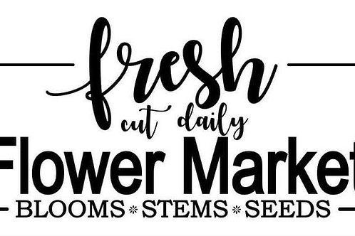 """Fresh Flower Market JRV 6.75"""" x 11.5"""""""