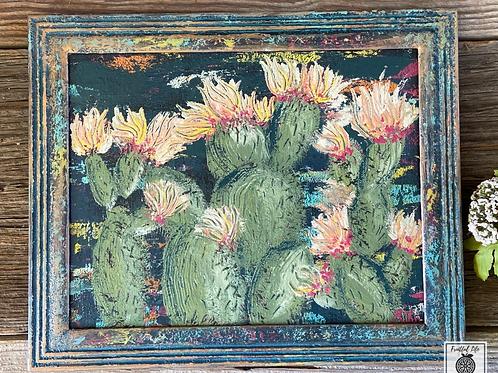 Original Boho Cacti Painting, DIY Paint, California Cactus