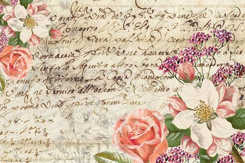 """La Mamie Floral, JRV Decoupage Paper, 30"""" x 20"""""""