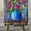 "Thumbnail: Mini 4"" Canvas Flower Vase Painting, DIY Paint"