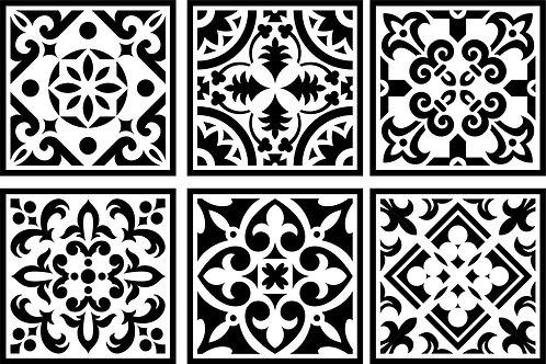 Moroccan Tile Mini Set, JRV Stencil