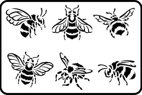 "Bees JRV Stencil 11.5"" x 17.5"""