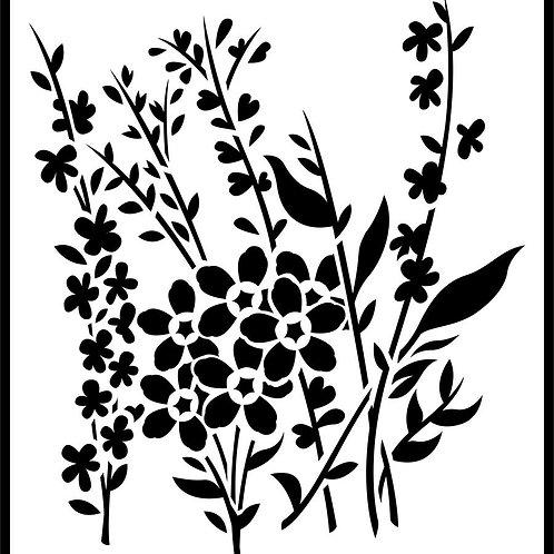 """Wild Flowers JRV 11.5"""" x 13"""""""