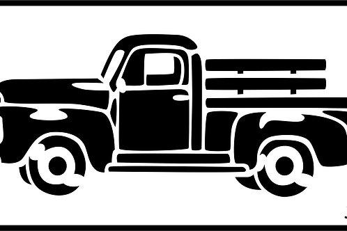 Vintage Truck, JRV Stencil