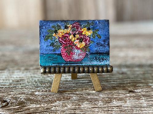 Original Mini Boho Multi Flower Vase Painting, DIY Paint