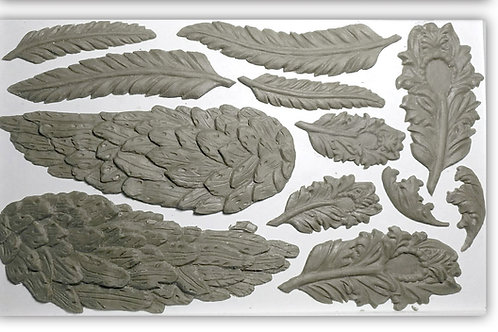 "Wings and Feathers, IOD Decor Mould, 6""x10"""