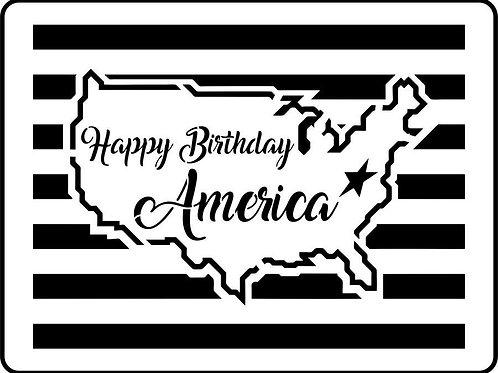 """Happy Birthday America JRV 11.5"""" x 15.25"""""""