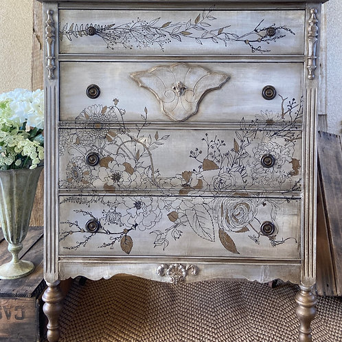 Beautiful Winter's Song Dresser, Rescued & Upcycled