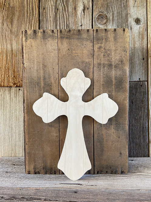 """Faux Pallet Wooden Cross, 18"""" Made in USA"""