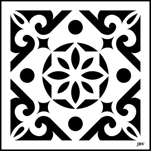 Moroccan Tile #5, JRV Stencil