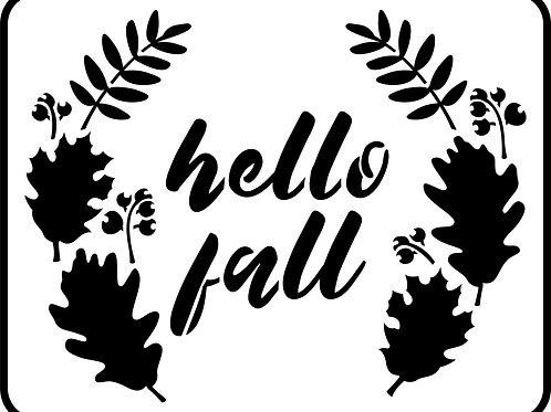 Hello Fall, JRV Stencil