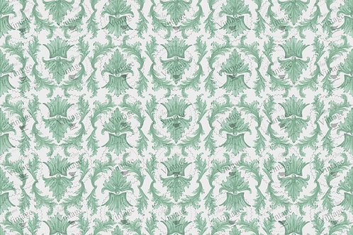 "Sage Damask, JRV Decoupage Paper, 30"" x 20"""