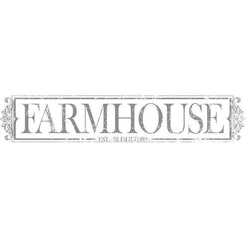 "Farmhouse Charcoal, IOD 1st Gen. Decor Transfer 59.5"" x 11.3"""