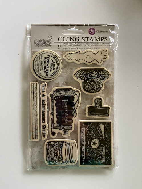 Curiosities Cling Stamps 9 Pieces