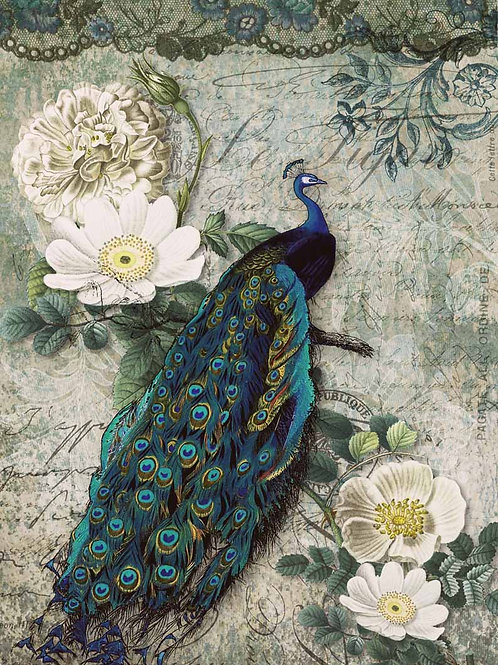 Peacock Majesty, Decoupage Queen Rice Paper