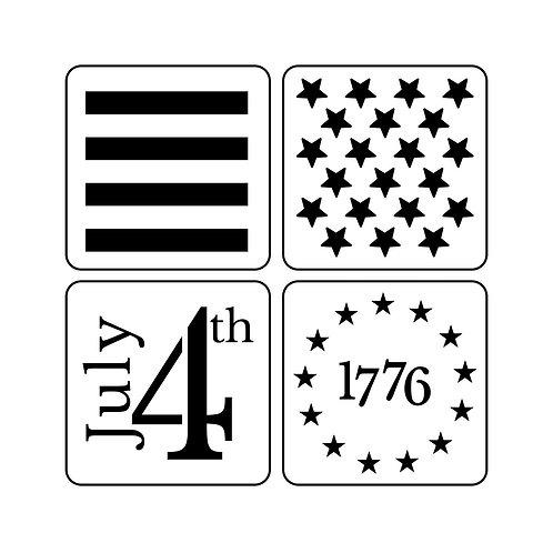 4th of July Set, JRV Stencil Set