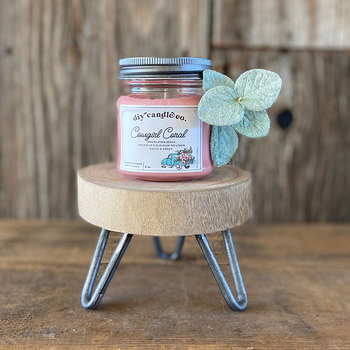 Cowgirl Coral, DIY Candle Co. Hand Poured, Soy Candle