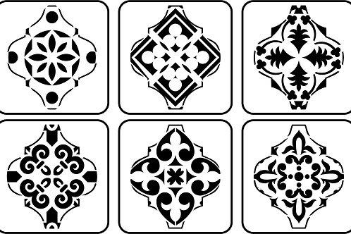 Arabesque Mini Set, JRV Stencil