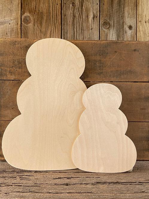 """13"""" x 18"""" Snowman/Pumpkins Door Hanger, Wood,  Made in the USA"""
