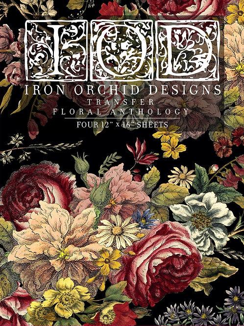 "Floral Anthology, IOD Decor Transfer Pad, 12"" x 16"""