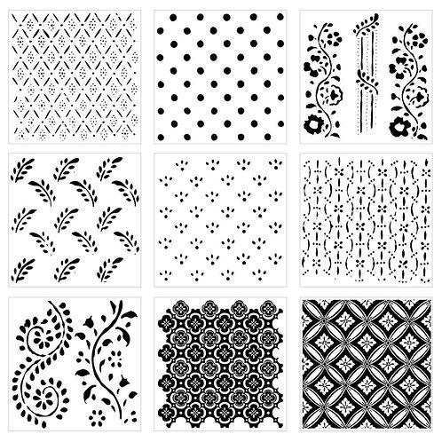 Pattern Play Decor Stamps, IOD 1st Gen