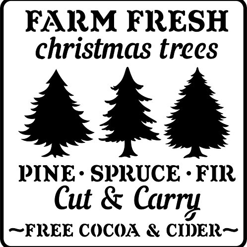 "Farm Fresh Christmas Trees JRV 11.5"" x 11.25"""