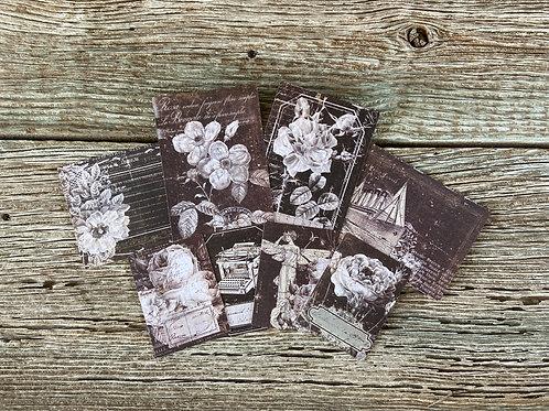 Vintage Paintables 1, IOD 1st Gen, Black, 16 Pieces, Mixed Media