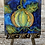 "Thumbnail: Mini 4"" Canvas Boho Pumpkin Painting, DIY Paint"