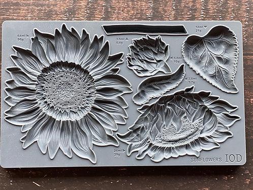 "Sunflower, IOD Decor Mould, 6""x10"""