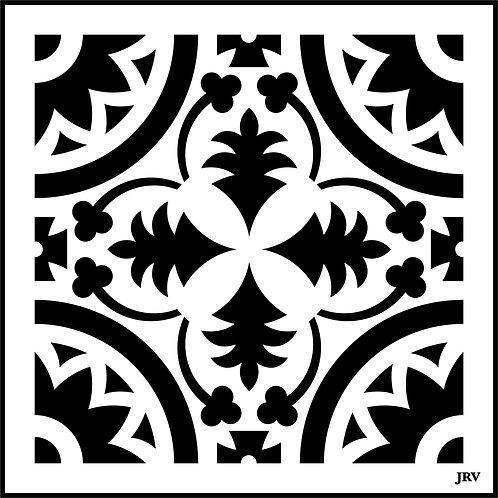 Moroccan Tile #6, JRV Stencil