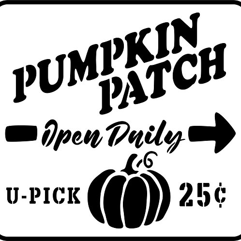 """Pumpkin Patch JRV Stencil,  11.55"""" x 12.5"""""""