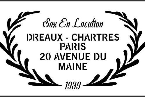 """Dreaux Chartres JRV 10.25"""" x 17.5"""""""